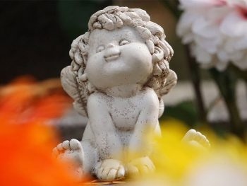 cute angel statute