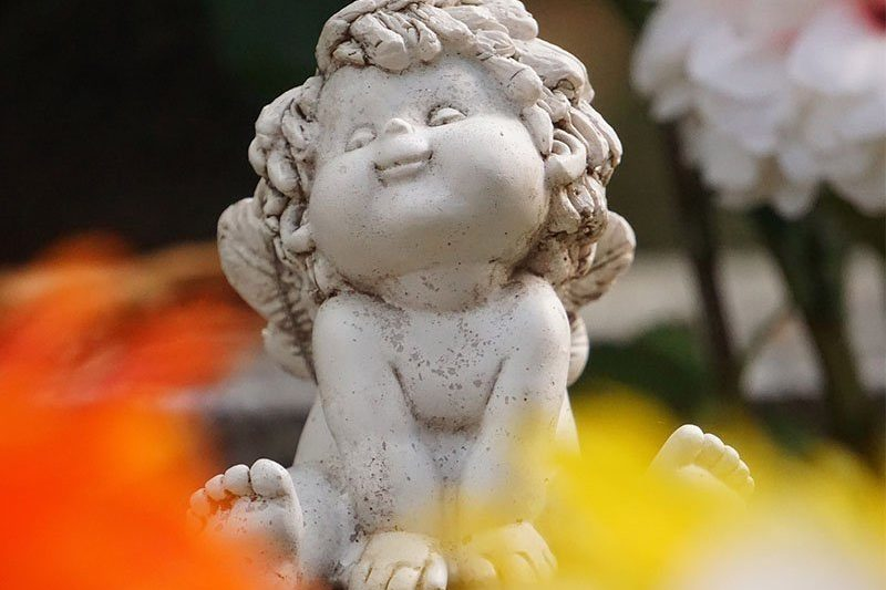 cute angel statute