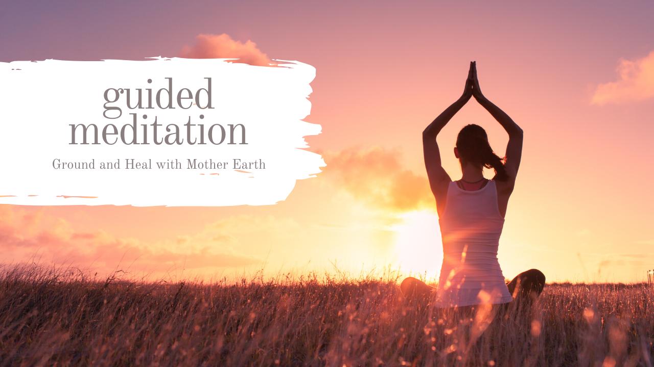 meditation in sunset